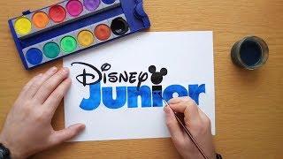 How to draw a blue Disney Junior logo