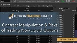 Contract Manipulation & Risks of Trading Non-Liquid Options