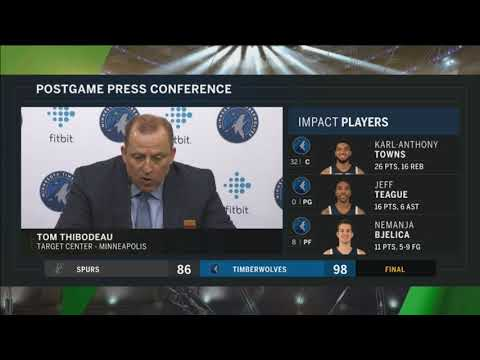 Timberwolves' Thibs: 'The bench saved us'