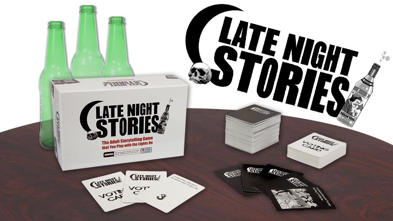 coming soon! late night stories! the adult story telling game you