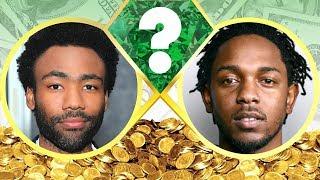 WHO'S RICHER? - Childish Gambino or Kendrick Lamar? - Net Worth Revealed! (2017)