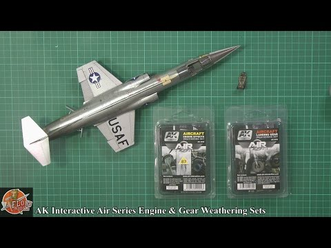 AK Interactive Air Series Gear and Engine weathering sets review
