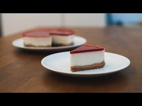 White Chocolate Coconut Raspberry No Bake Cake / VEGAN / SUGAR & GLUTEN FREE