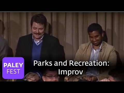 Parks and Recreation  Nick Offerman and Amy Poehler on Improv Paley Center
