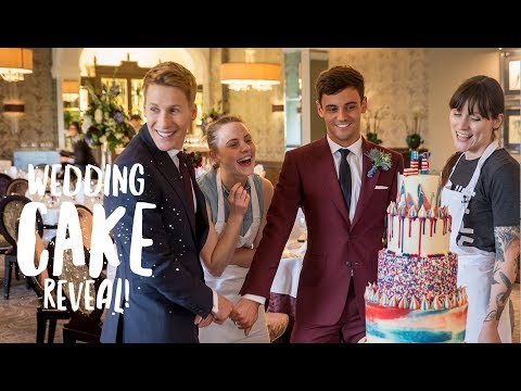 Wedding Cake Reveal to Lance! | Our Wedding Day! | Tom Daley