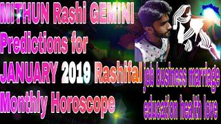 MITHUN Rashi   GEMINI   Predictions for JANUARY 2019 Rashifal   Monthly Horoscope   SUVO TV IN HINDI
