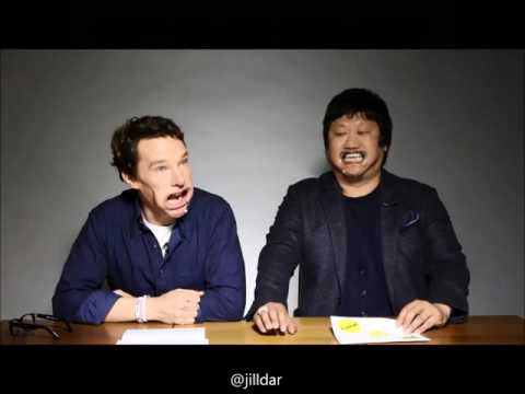 Benedict Cumberbatch and Wong sing single ladies with mouthguards In