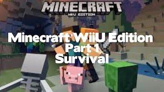 Minecraft WiiU Edition Survival Gameplay Part 1