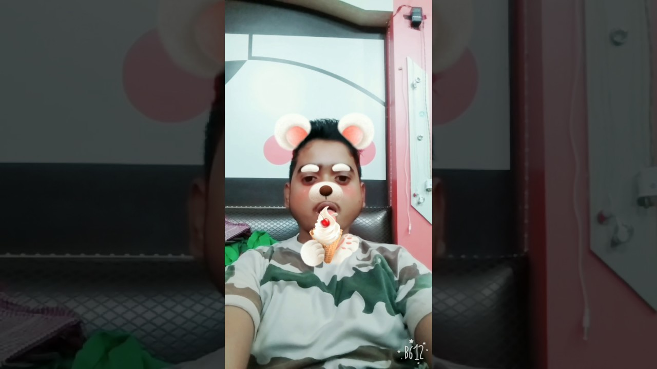 B612 camera using and create funny video