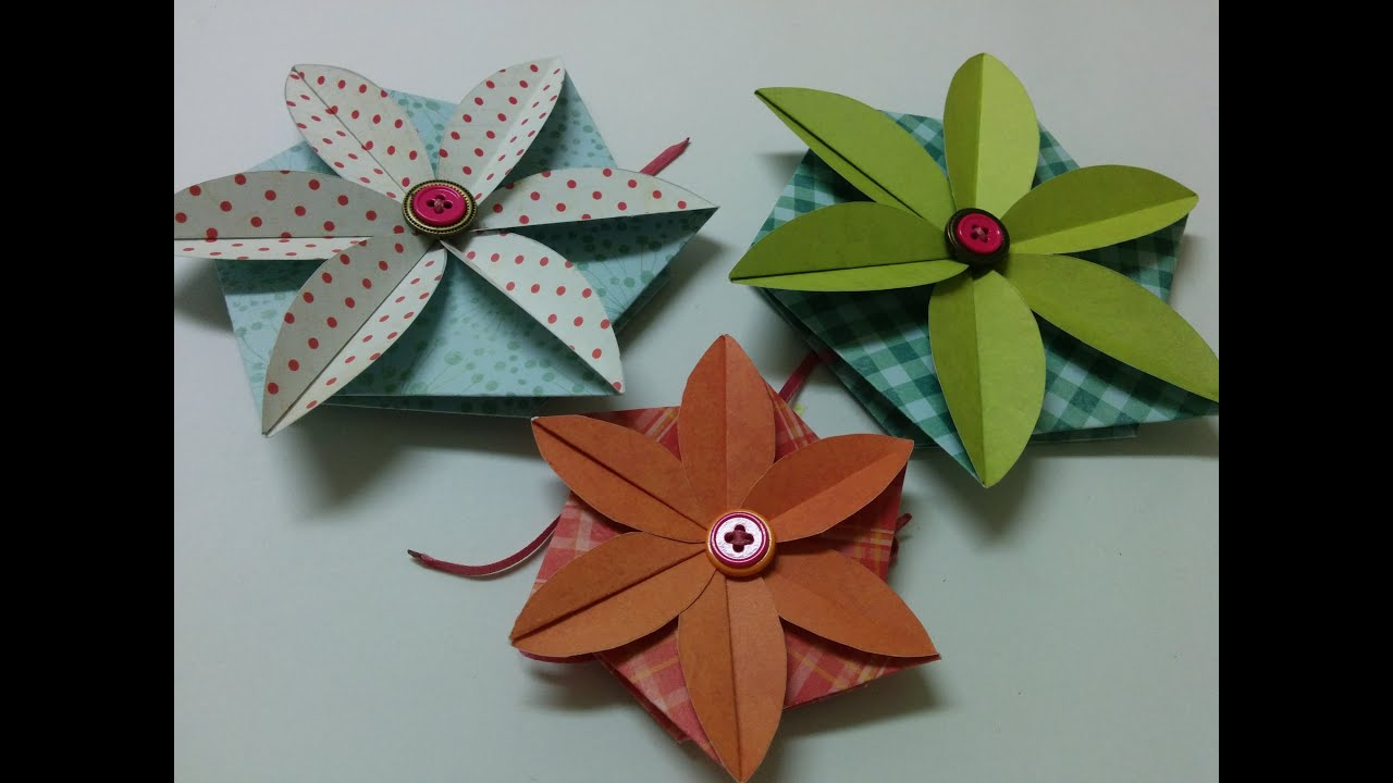 Art And Craft: How To Make Flower Envelope/ Card