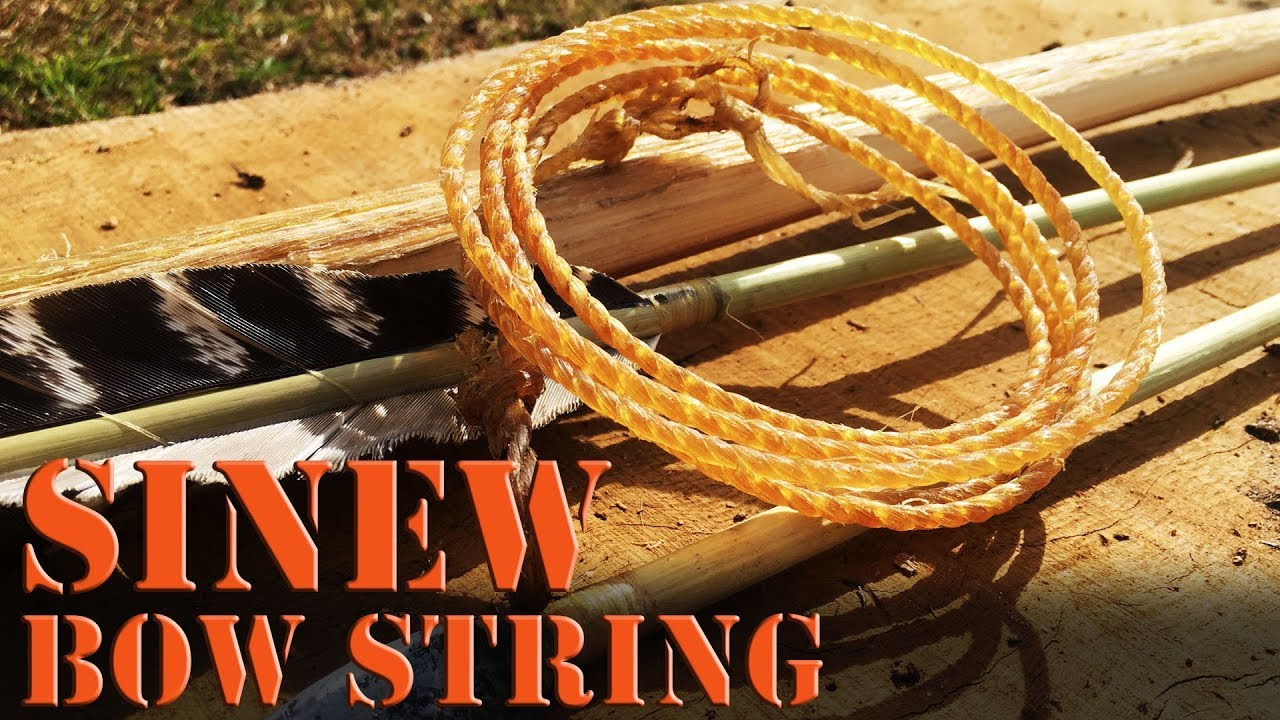 Making A Primitive Sinew Bow String With Reverse Twist Cordage