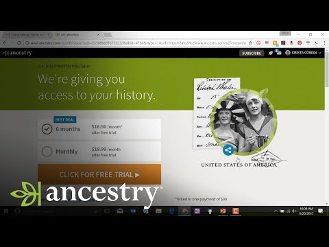 Online Family Tree Sharing at Ancestry