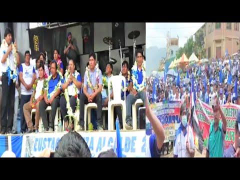 Bolivia Evo Morales en Caranavi Yungas La Paz proclama de candidatos Eustaquio Huiza Franklin Flores
