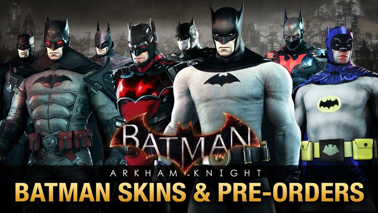 batman arkham knight all batman skins amp preorder