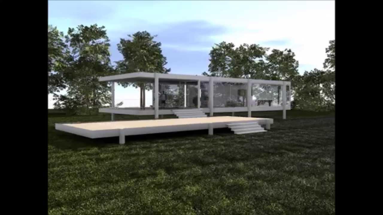 Casa farnsworth maqueta ramders 3d youtube - Casa farnsworth ...