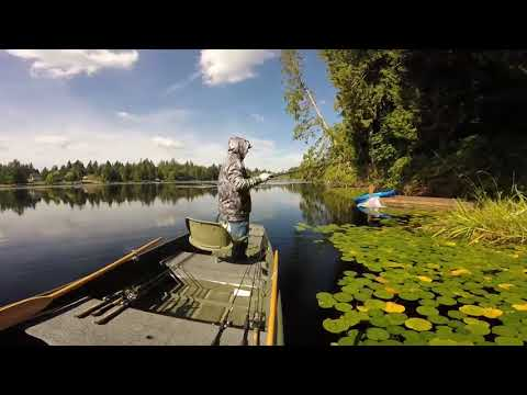 Western Washington largemouth bass fishing.