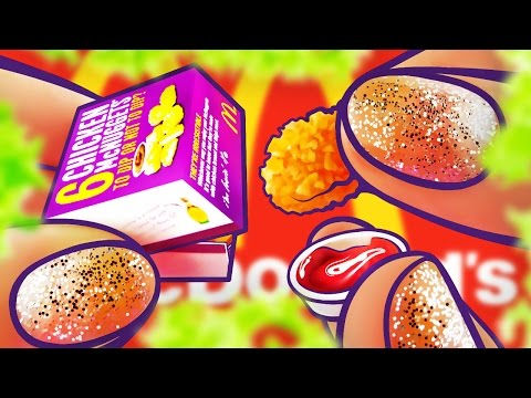 Realistic Miniature McDonalds NUGGETS + SAUCE Tutorial! | DollHouse DIY ♥
