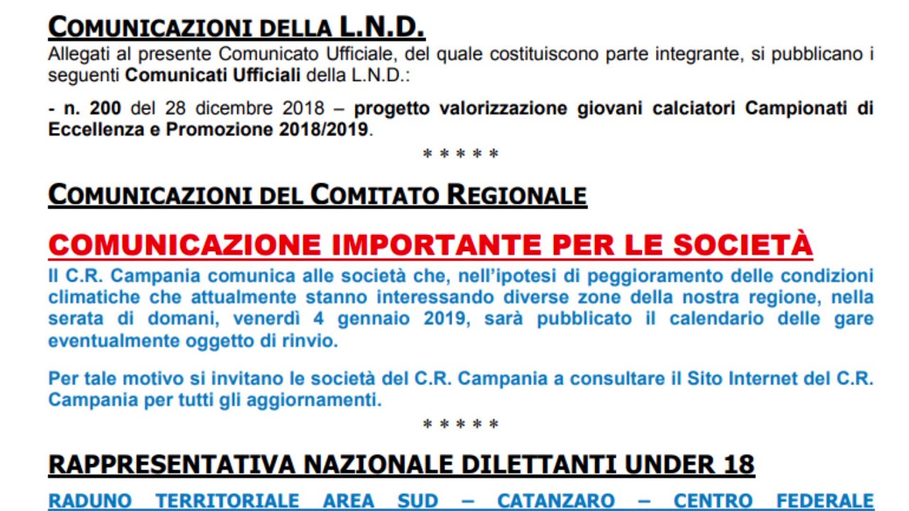 Calendario Promozione Campania.Eccellenza E Promozione La Figc Campania Valuta Il Rinvio