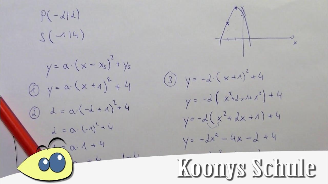 Großzügig Gleichungen Von Parabeln Arbeitsblatt Zeitgenössisch ...