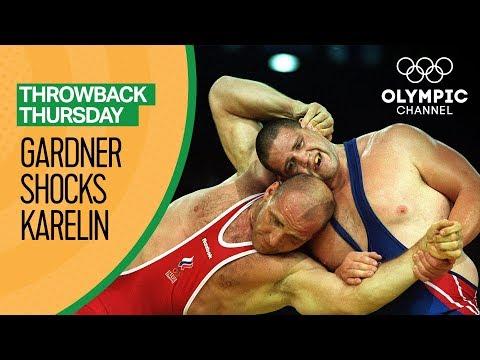 Gardner shocks Russian Wrestling-Legend Karelin to Win Gold | Throwback Thursday