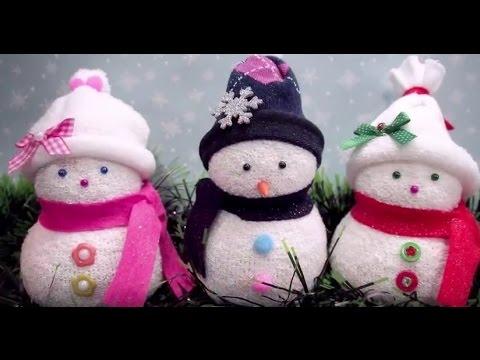 Поделки снеговика своими руками видео фото 742