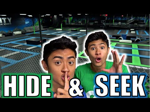HIDE AND SEEK IN WORLDS LARGEST TRAMPOLINE PARK!!