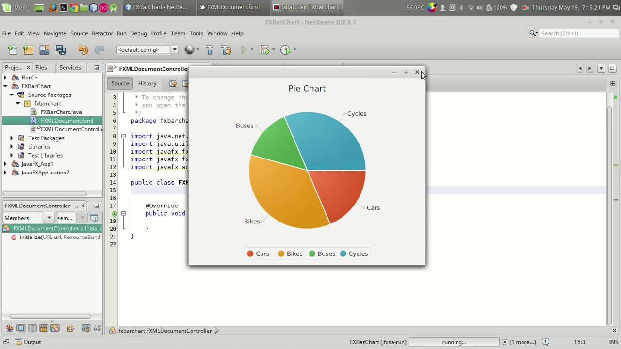 How to add JavaFX Charts / Graphs : Tutorial