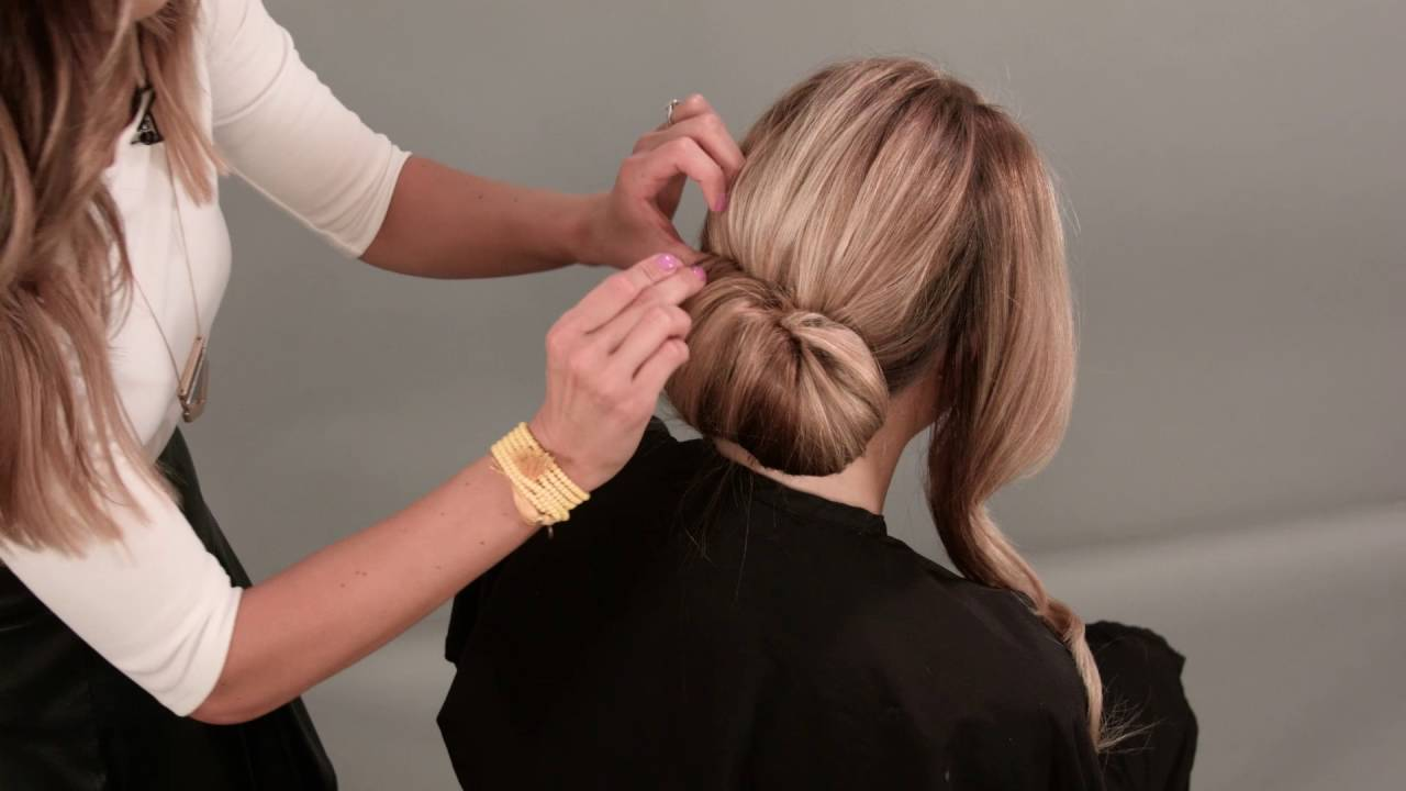 how to do a chignon hairstyle - youtube