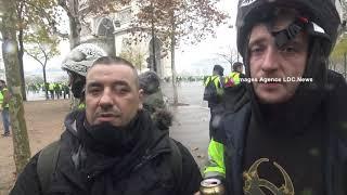 Détresse de Gilets Jaunes. Paris/France - 1er Décembre 2018
