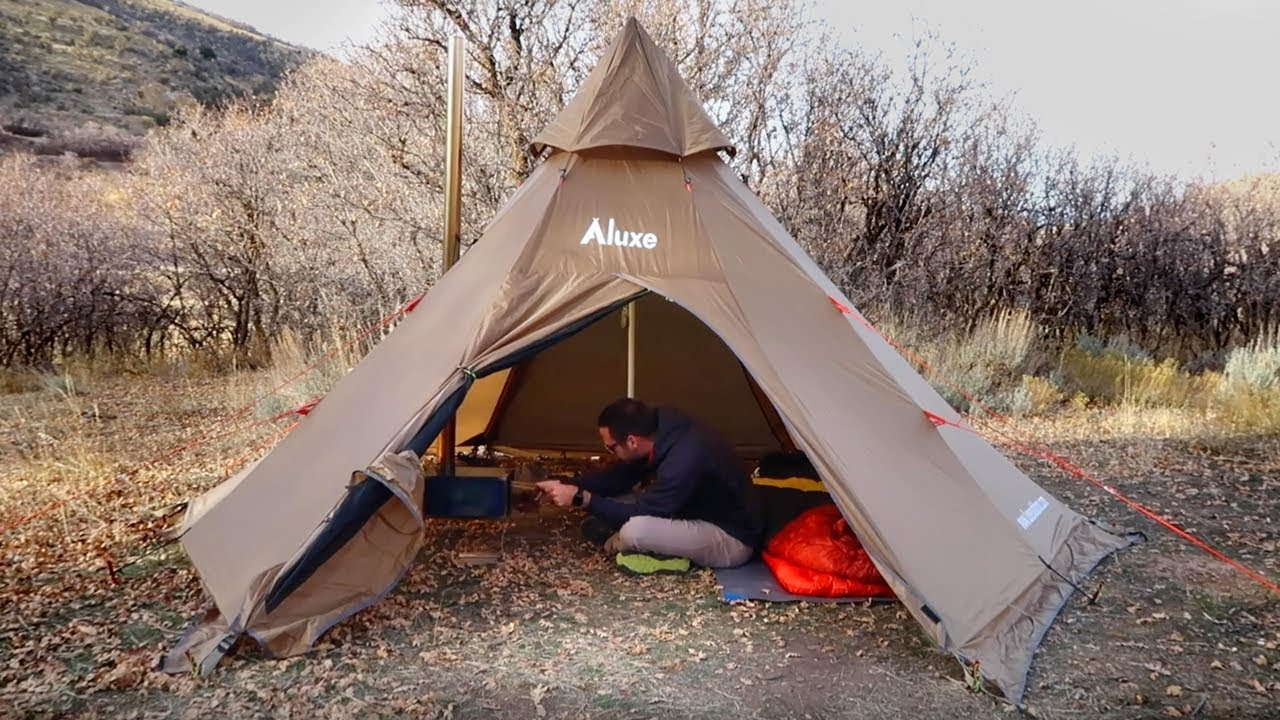 Megahorn Tipi with Wood Stove Jack (4P) Hot Tent – Luxe