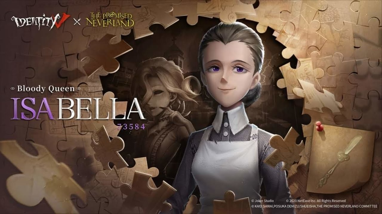 Identity V X The Promised Neverland Crossover   Isabella Cast: Bloody Queen  Poster - Identity V - YouTube