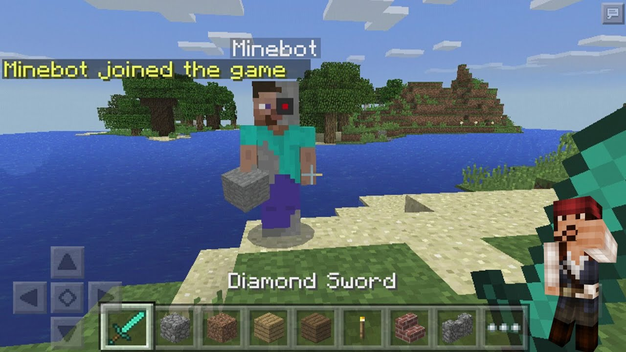 Minecraft pe 1.0 Minebot mod tutorial ( all commands ) | MCPE ...