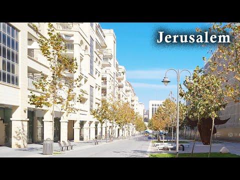 Israel Geht Durch Die Straßen Jerusalems