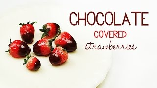 polymer clay Chocolate-Covered Strawberries TUTORIAL - polymer clay food