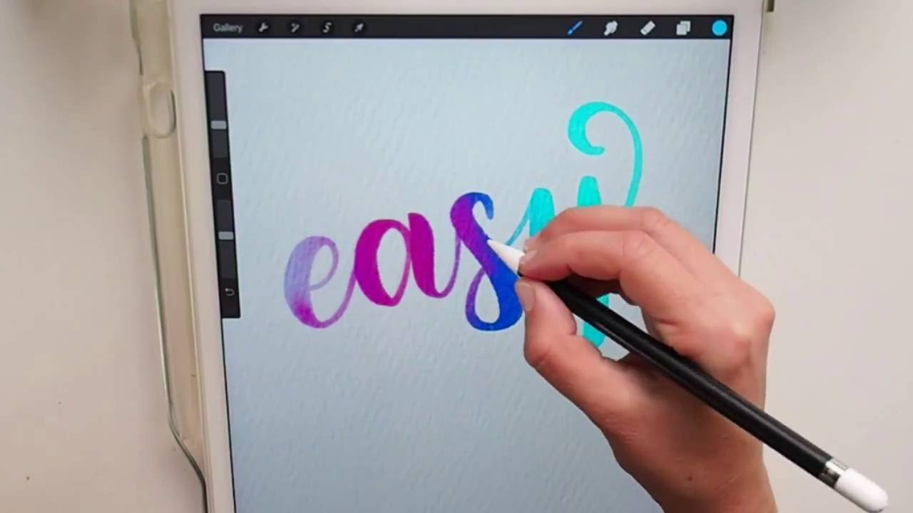 Easy digital watercolor calligraphy in procreate youtube