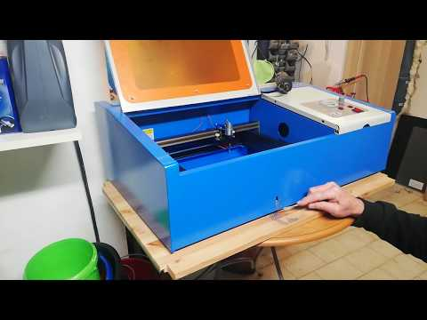 K40 Laser - Removing Gantry & Cutting Exhaust by Tako Schotanus