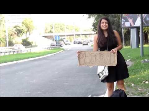 Hitchhiking in Serbia. English Subtitles