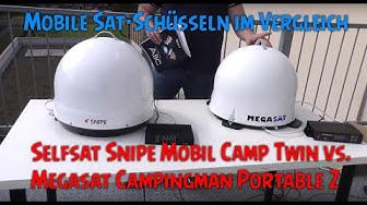 Selfsat Snipe Mobil Camp Twin vs. Megasat Campingman Portable 2