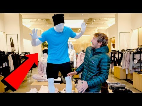 Trace - Friends Get Together To Pull Mannequin Prank On Unsuspecting Shoppers!