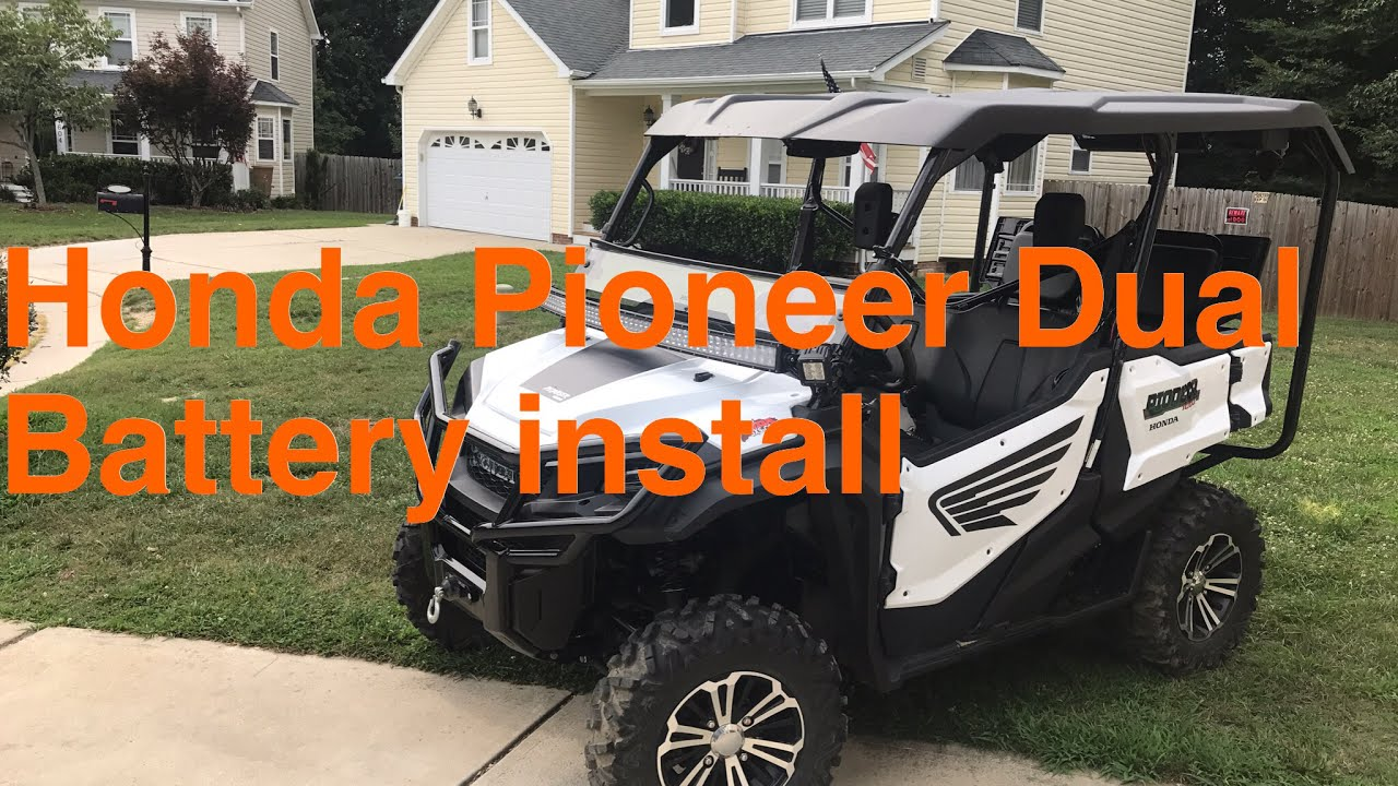 medium resolution of honda pioneer dual battery setup