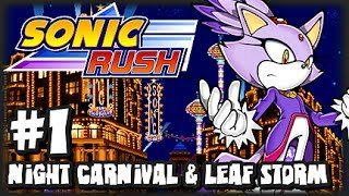 Sonic Rush (1080p) - Blaze - Part 1 Night Carnival & Leaf Storm