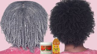 Aztec Bentonite Clay Mask on 4C Natural Hair Dry Itchy Scalp Remedy