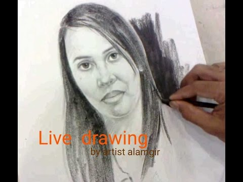 How to Draw a Face Live Drawing By Artist alamgir