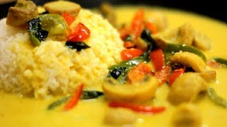 Mushroom and Bell Peppers in Coconut Milk Curry   Thai Curry Super Simplified Gluten Dairy Free