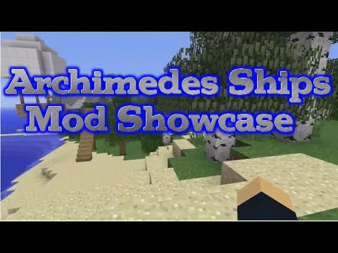 Minecraft: Archimedes Ships Mod Showcase 1.6.4 - Create, Customize and Sail Your Own Ship!