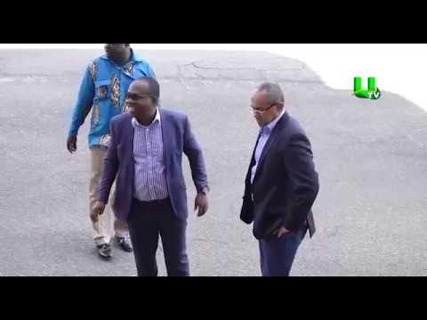 CAF president Ahmad Ahmad arrives in Ghana