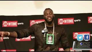 DEONTAY WILDER TALKS BERMANE STIVERNE AND MORE