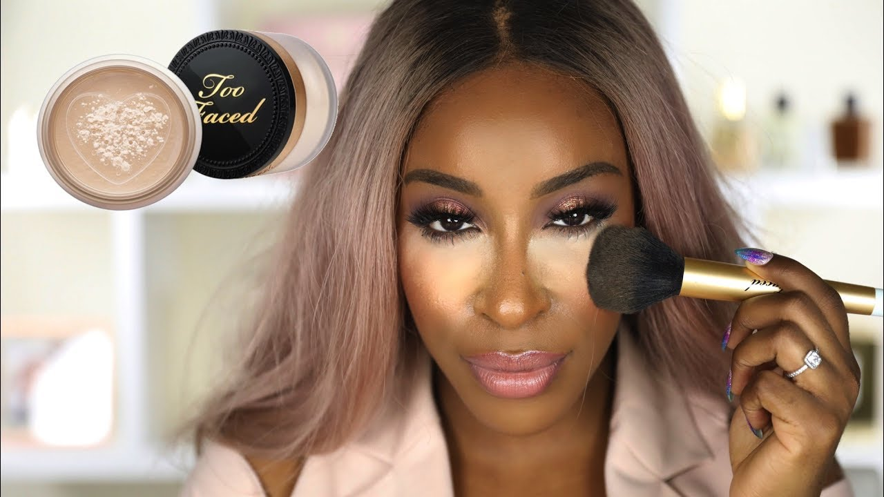 Image result for Using too much translucent powder on a black person