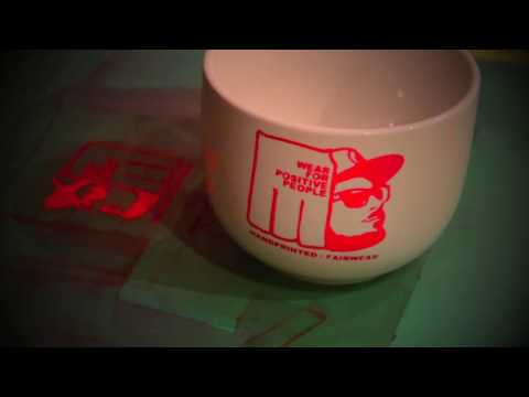 DIY Screen printing on coffe mugs