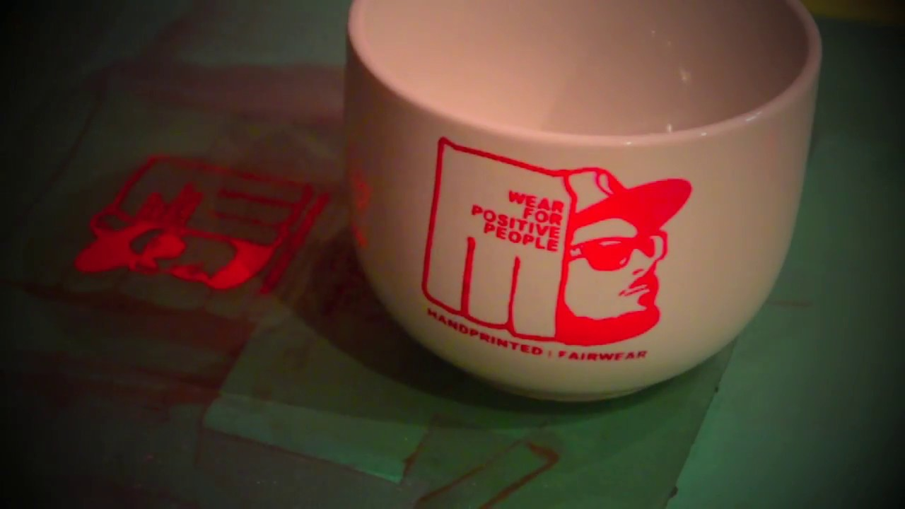 Diy Screen Printing On Coffe Mugs Youtube